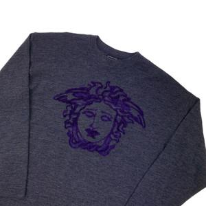Versace Purple Embroidered Sweatshirt