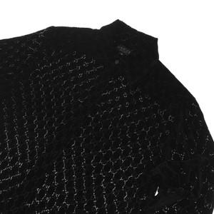 Gucci by Tom Ford 1997 Black Velvet Monogram Shirt