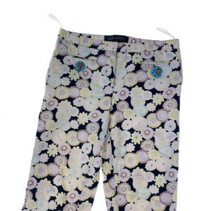 Louis Vuitton Floral Print Cropped Trousers