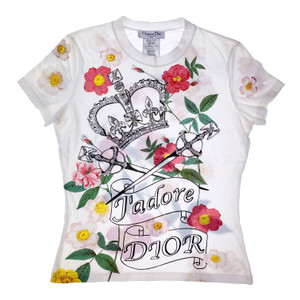 Christian Dior by John Galliano J'adore Dior Embellished Crown & Swords Top