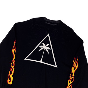 Palm Angels Intarsia Flame Sweater