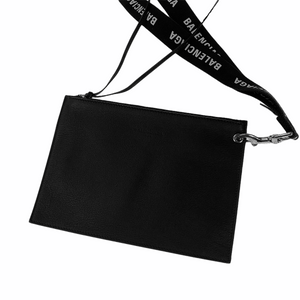 Balenciaga Leather Pochette & Lanyard