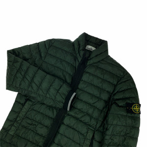 Stone Island Green Garment Dyed Down Jacket