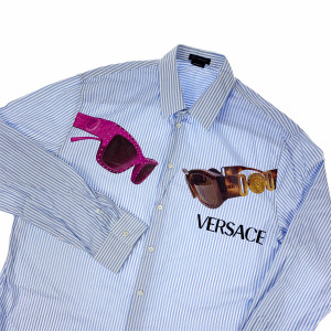 Versace Sunglasses Striped Shirt