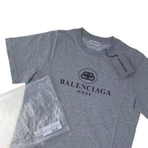 Balenciaga Mode Women's Grey T Shirt