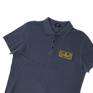 Fendi FF Patch Grey Polo Shirt