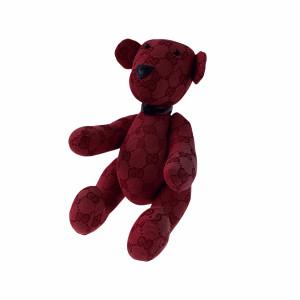 Gucci Red Monogram Teddy Bear