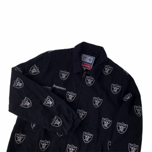 Supreme x NFL x Raiders x '47 Embroidered Harrington Jacket