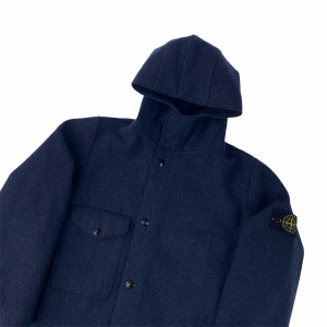 Stone Island Navy Wool Coat