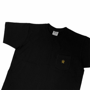 Oliver's Archive Heavyweight Front Pocket Black T Shirt