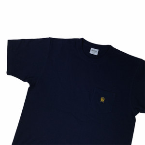 Oliver's Archive Heavyweight Front Pocket Navy T Shirt