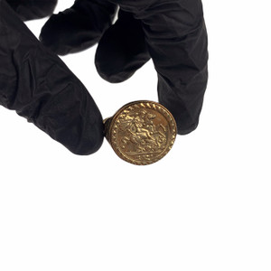 9ct Gold St George Coin Ring