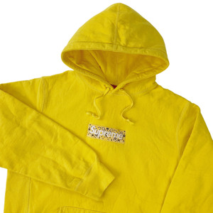Supreme Bandana Box Logo Yellow Hoodie