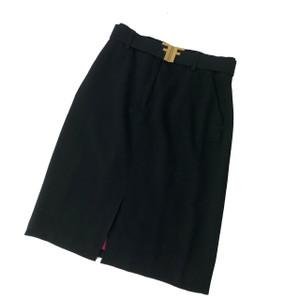 Fendi Black Skirt & Belt