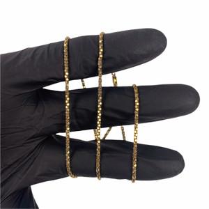 14ct Gold 18'' Popcorn Link Chain