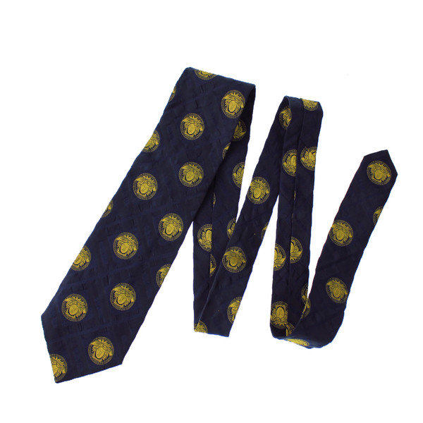 Versace Silk Navy Tie