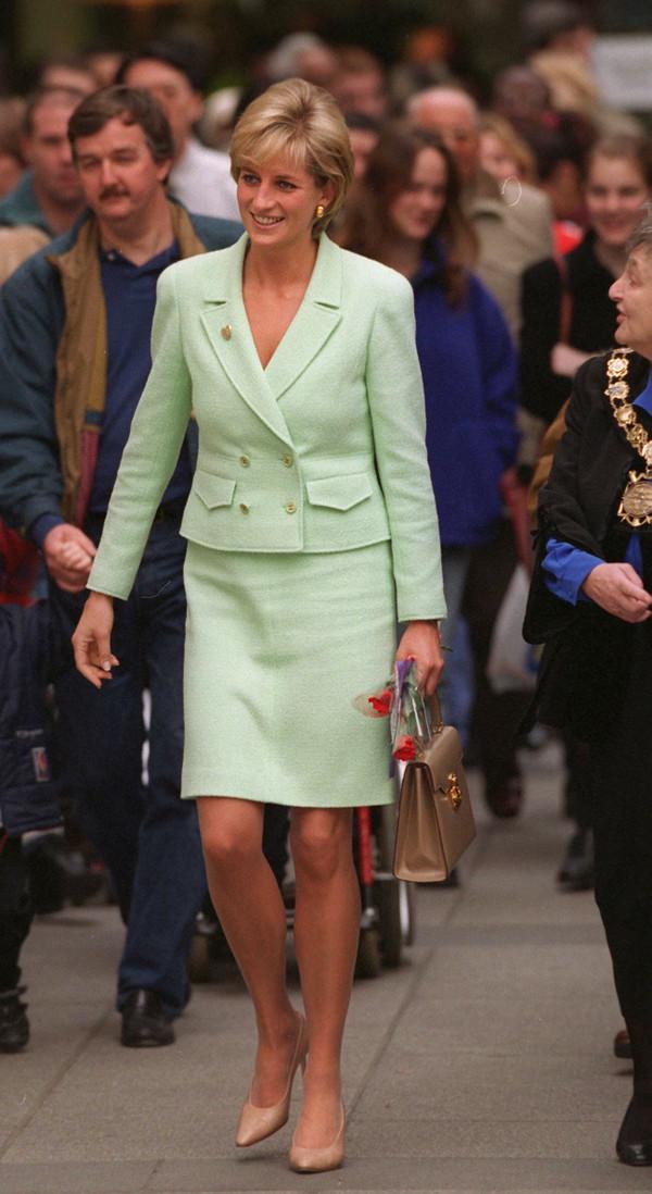Chanel Lime Green Tweed Jacket Princess Diana