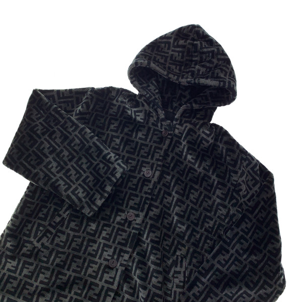 Fendi Faux Fur Grey Zucca Jacket