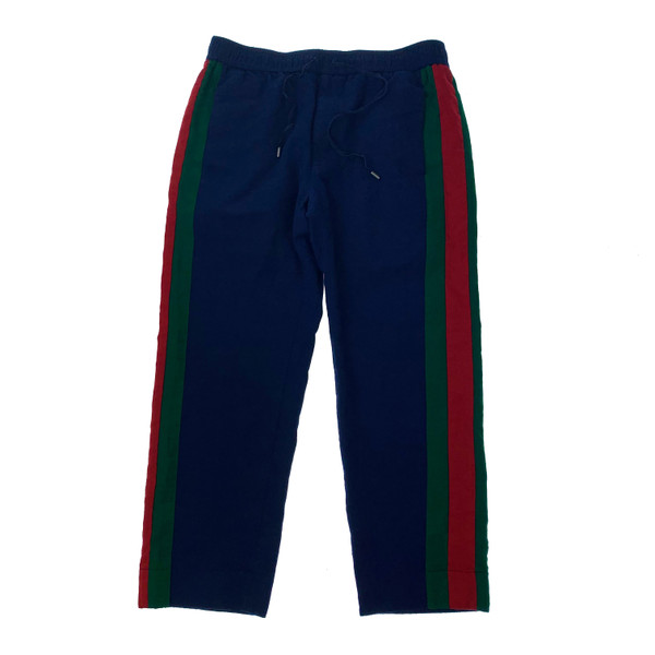 Gucci Blue Side Stripe Cropped Trousers