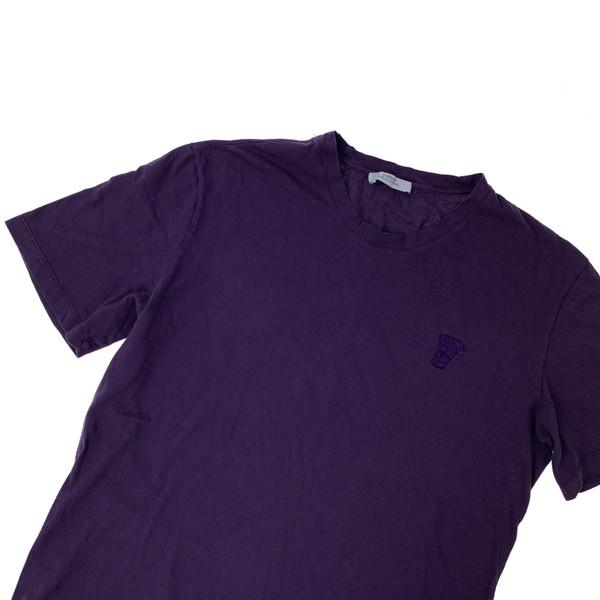 Versace Purple Mini Logo T Shirt