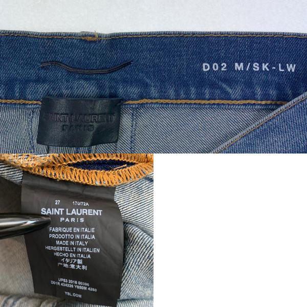 Saint Laurent D02 M/SK-LW Blue Denim Jeans