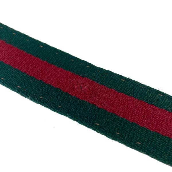 Gucci Striped Canvas Belt