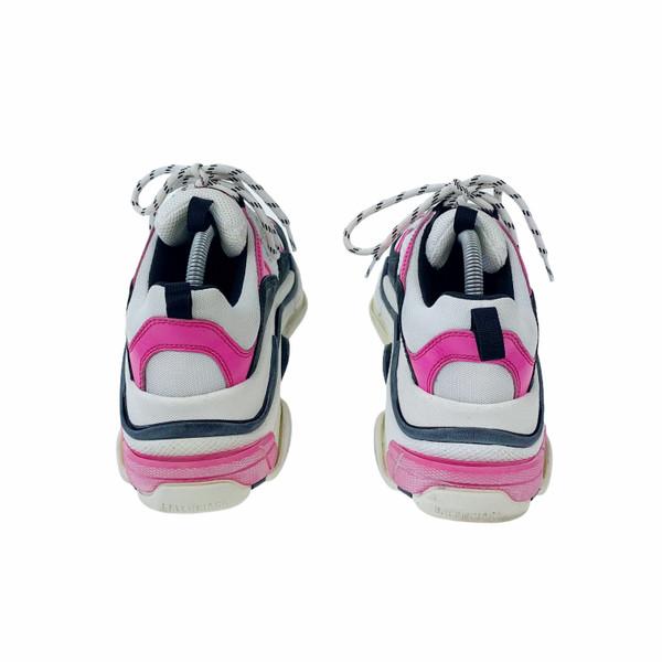 Balenciaga Triple S Pink, Black & White Trainers