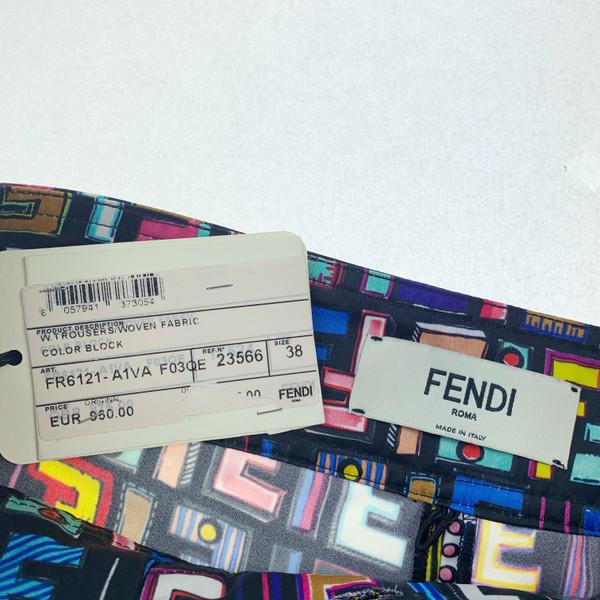Fendi Multicoloured Zucca Monogram Viscose Trousers
