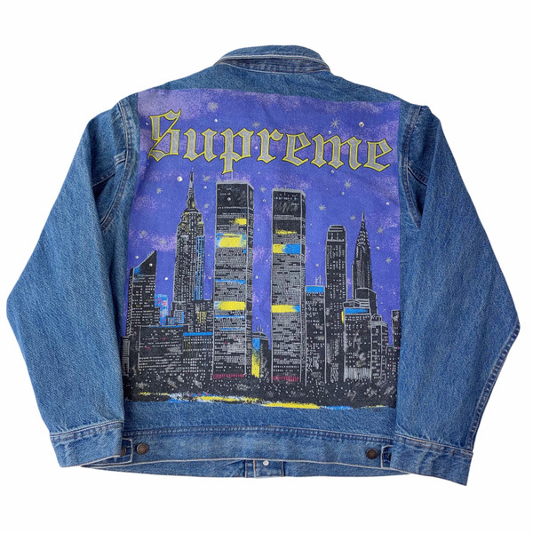 Supreme New York Painted Trucker Jacket