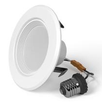 "Sunlake Lighting 4"" inch LED recessed downlight baffle 60 watt replacement single light image"