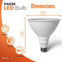 "SunLake Lighting Standard LED Lamp bulb PAR30 75 watt replacement, diameter 4.7"" inches, height 5.1"" inches"