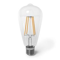 SunLake Lighting LED Vintage Edison Lamp bulb ST19 60 watt replacement single bulb image E26 screw base