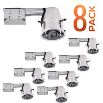 SunLake Lighting - Remodel 4 inch Can Housing Unit - 8 Pack