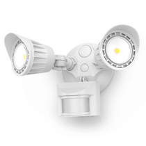 SunLake Lighting LED 2-head motion sensor security light for backyard, porch, garage, outdoor security - 1 pack.