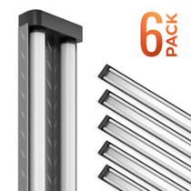 SunLake Lighting 4ft industrial frosted LED shop light. 5000K daylight 40W work light. 6 Pack.