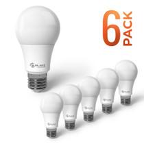 SunLake Lighting 6PK LED Light Bulb A19 D2D Lamp Dimmable 9W 800 Lm