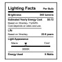 SunLake Lighting Standard LED Lamp bulb BR20 50 watt replacement E26 screw base single bulb image 3000K
