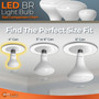 """Sunlake Lighting BR LED bulb size comparison chart. Find the perfect size. 4"""" can BR20"""