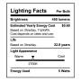 SunLake Lighting globe LED Lamp bulb G25 40 watt replacement E26 screw base single bulb image 2700K