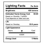 SunLake Lighting globe LED Lamp bulb G25 40 watt replacement E26 screw base single bulb image 4000K