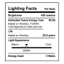 SunLake Lighting globe LED Lamp bulb G25 40 watt replacement E26 screw base single bulb image 3000K