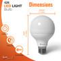 """SunLake Lighting globe LED Lamp bulb G25 40 watt replacement, diameter 3.2"""" inches, height 4.5"""" inches"""