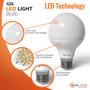 SunLake Lighting globe LED Lamp bulb G25 40 watt replacement, 5 watt LED, glare-free smooth lens design, premium quality LED chip board, E26 screw base