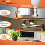 SunLake Lighting globe LED Lamp bulb G25 40 watt replacement, 5 watt LED, dimmable, 210 degree beam angle, 450 lumens, 10-year warranty, damp rated