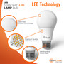 SunLake Lighting Standard LED Lamp bulb A19 75 watt replacement E26 screw base single bulb image Glare free smooth lens design premium quality LED chip board E26 standard screw base