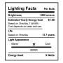 SunLake Lighting Standard LED Lamp bulb A19 60 watt replacement single bulb image E26 screw base 5000K