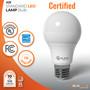 Sunlake Lighting A19 LED bulb UL Classified, Energy Star rated, 10-year warranty, FCC compliant, USA-based