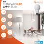 Sunlake Lighting A19 LED bulb 60 watt replacement 9 watt LED, dimmable, 220 degree beam angle, 800 lumens, 10-year warranty, damp rated