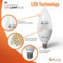 "SunLake Lighting B11 candelabra LED Vintage Edison Lamp bulb B11 40 watt replacement, diameter 1.4"" inches, height 3.8"" inches"