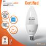 SunLake Lighting B11 candelabra LED Lamp bulb B11 40 watt replacement, 4 watt LED, dimmable bulb